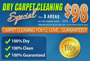 Dry Carpet Cleaning - $98 Carpet Cleaning Special