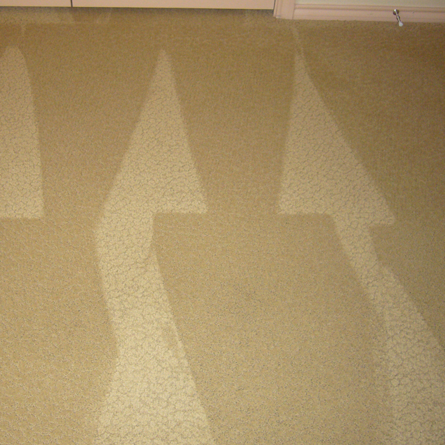 dry carpet cleaning - stain after