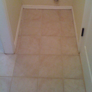 dry carpet cleaning - tile cleaning after
