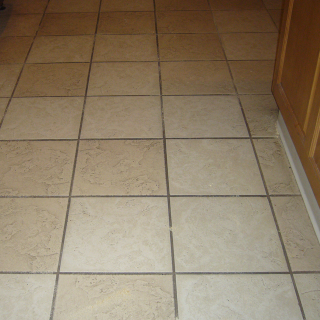 dry carpet cleaning - tile cleaning before